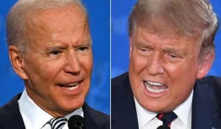 Donald Trump and Joe Biden, the two presidential candidates.