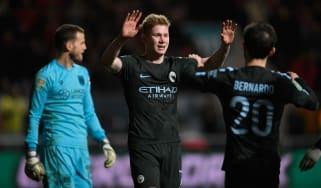 Kevin De Bruyne Manchester City Bristol City Carabao Cup