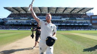 England's Ben Stokes celebrates his epic performance against Australia in the 2019 Headingley Ashes Test