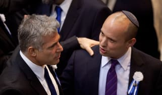Yair Lapid and Naftali Bennett pictured together in 2013