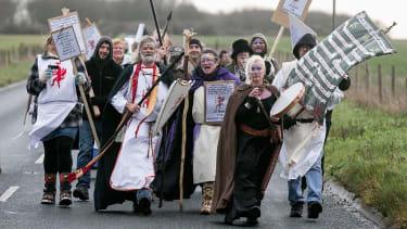 Stonehenge protest
