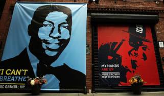 Memorial of Michael Brown and Eric Garner in New York City