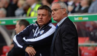Craig Shakespeare (left), pictures with former boss Claudio Ranieri, could be Leicester City's next manager