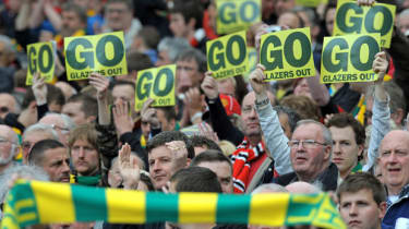 Anti-Glazer protests at Manchester United