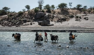 River used by refugees to cross into Sudan