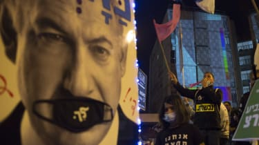Anti-Netanyahu protests before Israelis went to the polls