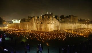 Tower of London WWI flames installation