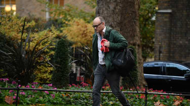Dominic Cummings walks up Downing Street on his way to No. 10.