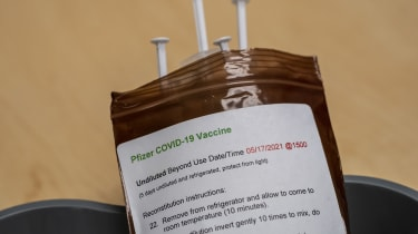 Pfizer Covid-19 vaccine injections