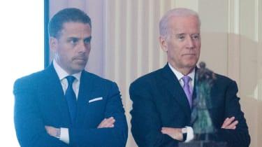 Hunter standing with Joe Biden