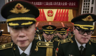 Members of the People's Liberation Army at this year's National People's Congress