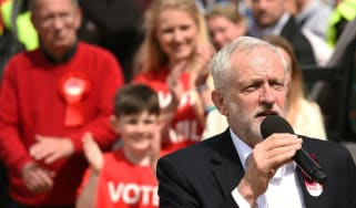 Jeremy Corbyn campaigning ahead of last year's general election