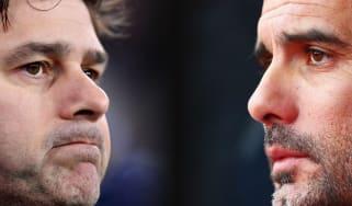 Tottenham Hotspur manager Mauricio Pochettino and Manchester City boss Pep Guardiola