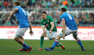 Johnny Sexton in action for Ireland during the 26-16 win against Italy in Rome