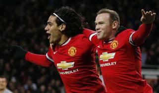 Radamel Falcao Wayne Rooney