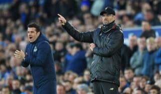 Everton manager Marco Silva and Liverpool boss Jurgen Klopp