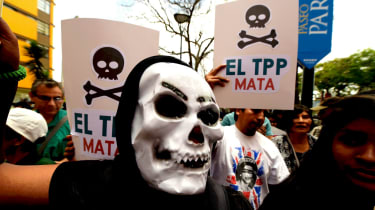 Protesters have rallied against the Trans-Pacific Partnership for years