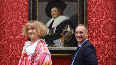Grayson Perry and Dr Xavier Bray, director of London's Wallace Collection