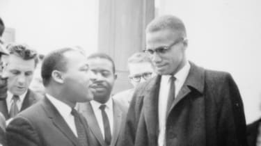 Malcolm X (right) with Martin Luther King Jr. Date unknown