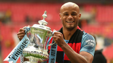 After lifting the FA Cup Man City captain Vincent Kompany announced he was leaving the club