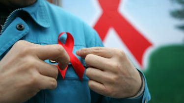 HIV red ribbon