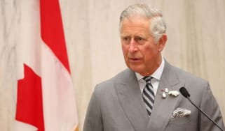 Prince Charles during his four day visit to Canada