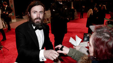 LONDON, ENGLAND - FEBRUARY 12:Casey Affleck attends the 70th EE British Academy Film Awards (BAFTA) at Royal Albert Hall on February 12, 2017 in London, England.(Photo by Gareth Cattermole/Ge