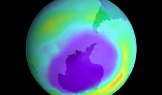 The largest ozone hole ever recorded in 2000