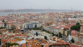 The view from Miradouro da Nossa Senhora do Monte in Lisbon