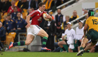 George North scores for Lions v Australia