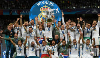Real Madrid have won three Uefa Champions League titles in a row