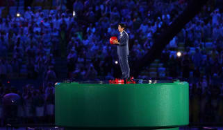 Japanese Prime Minister Shinzo Abe appears in Rio as the Olympic baton is passed on for 2020