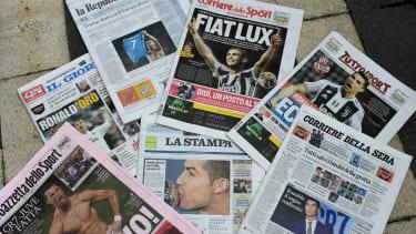 Cristiano Ronaldo Juventus transfer Italy newspapers