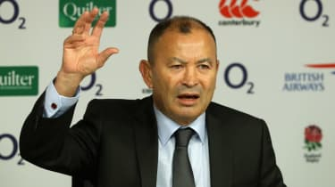 Eddie Jones faces the media after announcing his England squad for the autumn internationals