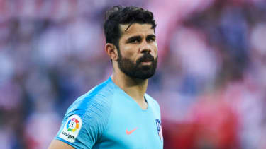 Spanish striker Diego Costa left Chelsea for Atletico Madrid in January 2018