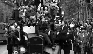 The VE Day parade in London