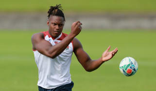 England's Maro Itoje in training at the Rugby World Cup in Japan