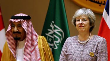 Theresa May meets Saudi King Salman