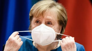 German Chancellor Angela Merkel attends a weekly meeting of the German Federal cabinet.