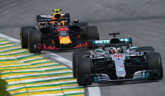 Mercedes driver Lewis Hamilton won the F1 Brazilian Grand Prix ahead of Red Bull's Max Verstappen