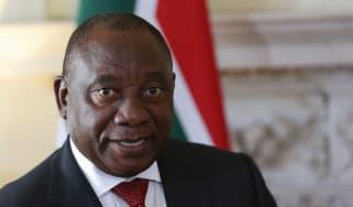 South African president Cyril Ramaphosa has cut short a trip to London due to violence at home
