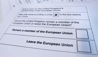 Ballot paper for EU referendum