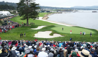 Tiger Woods, Justin Rose and Jordan Spieth play their opening round of the US Open at Pebble Beach Golf Links