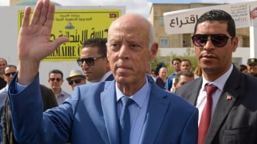 Tunisian President Kais Saied pictured in 2019