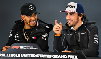 Lewis Hamilton and Fernando Alonso spoke to the media ahead of the F1 United States GP