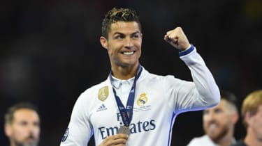 Cristiano Ronaldo wins the Champions League