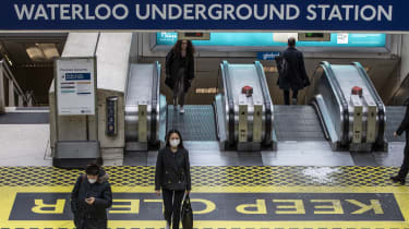 Commuters make their way through Waterloo Station