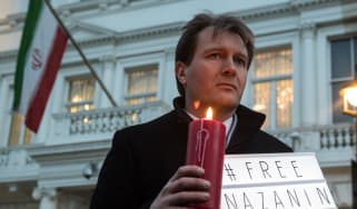 Richard Ratcliffe during a vigil outside the Iranian embassy in London