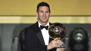 Barcelona star Lionel Messi won the Ballon d'Or in 2015, 2012, 2011, 2010 and 2009