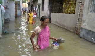 Flood victims in Malda, West Bengal